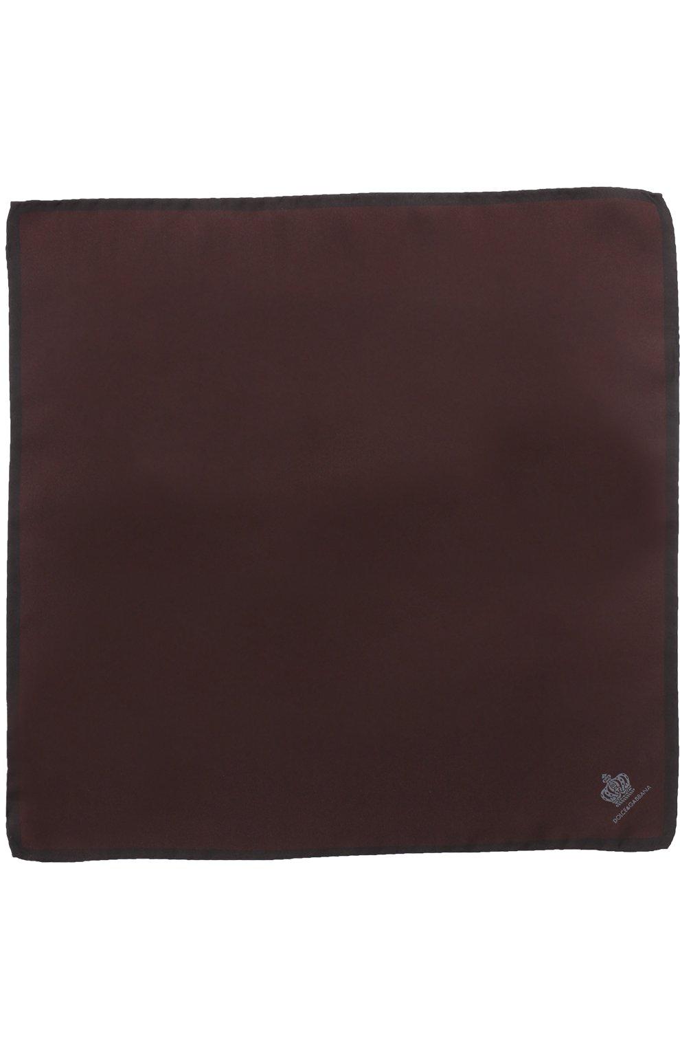 Шелковый платок Dolce & Gabbana бордовый   Фото №2