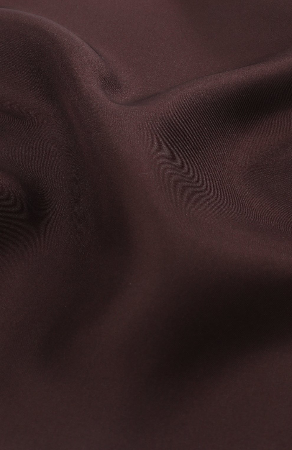 Шелковый платок Dolce & Gabbana бордовый   Фото №3