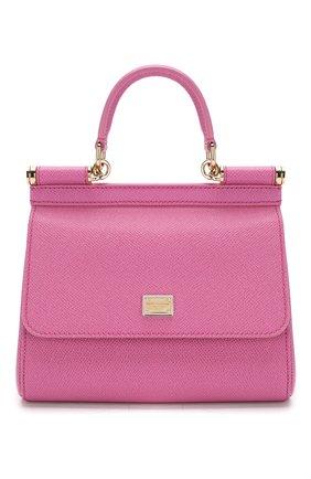Сумка Sicily small Dolce & Gabbana розовая цвета | Фото №1