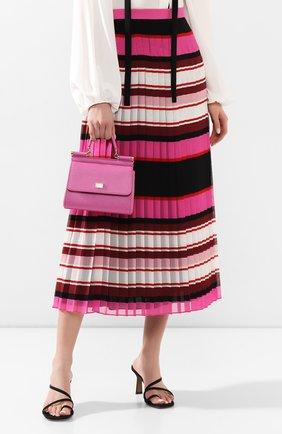 Сумка Sicily small Dolce & Gabbana розовая цвета | Фото №2