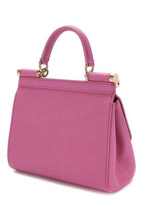 Сумка Sicily small Dolce & Gabbana розовая цвета | Фото №3
