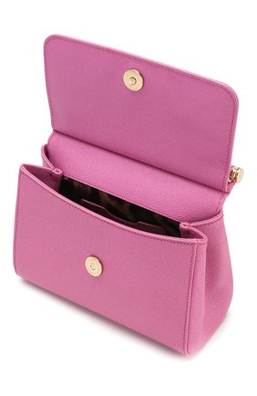 Сумка Sicily small Dolce & Gabbana розовая цвета | Фото №4