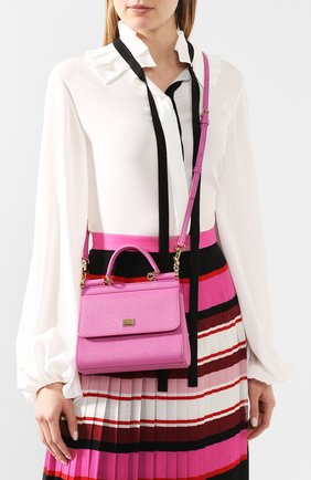 Сумка Sicily small Dolce & Gabbana розовая цвета | Фото №5
