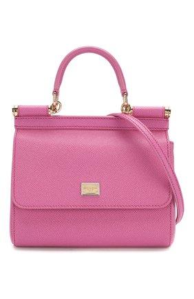 Сумка Sicily small Dolce & Gabbana розовая цвета | Фото №6