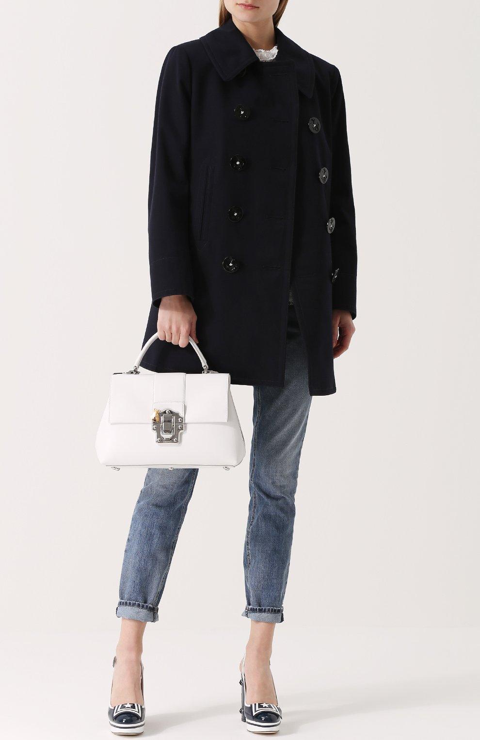 Сумка Lucia Dolce & Gabbana белая цвета | Фото №2