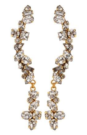 Серьги с кристаллами Swarovski Erickson Beamon золотые | Фото №1