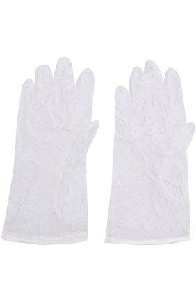 Перчатки из кружева Sermoneta Gloves белые | Фото №1
