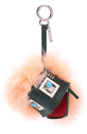 Брелок Bag Bug XXXX из меха норки и енота | Фото №1