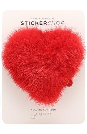 Стикер Heart из меха норки | Фото №1