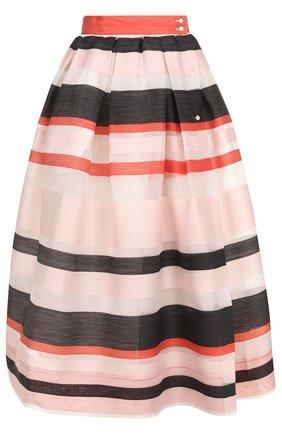 Пышная юбка-миди в полоску sara roka разноцветная | Фото №1