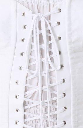 Топ с открытыми плечами и шнуровкой Dolce & Gabbana белый | Фото №5