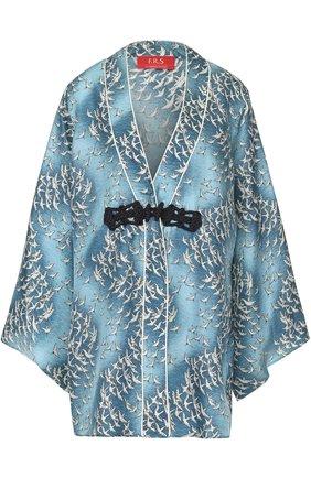 Женская шелковая блуза свободного кроя с принтом F.R.S., цвет голубой, арт. AB000618/TE00130 в ЦУМ | Фото №1