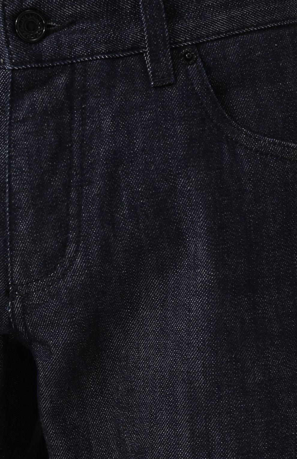 Джинсы прямого кроя Dolce & Gabbana темно-синие | Фото №5