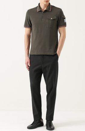 Мужские кожаные кеды на шнуровке COMMON PROJECTS черного цвета, арт. 1528 | Фото 2