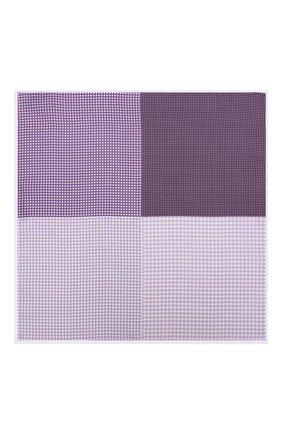 Мужской шелковый платок с узором LANVIN фиолетового цвета, арт. 5832/HANDKERCHIEF   Фото 2 (Материал: Текстиль, Шелк; Статус проверки: Проверено, Проверена категория)