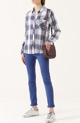 Женская блуза свободного кроя в клетку Rails, цвет синий, арт. HUNTER/550-12 в ЦУМ   Фото №1