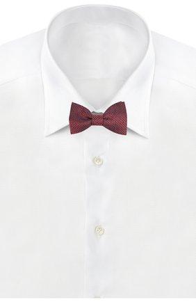 Мужской шелковый галстук-бабочка с узором LANVIN красного цвета, арт. 2402/B0W TIE | Фото 2 (Материал: Текстиль, Шелк; Статус проверки: Проверена категория, Проверено)