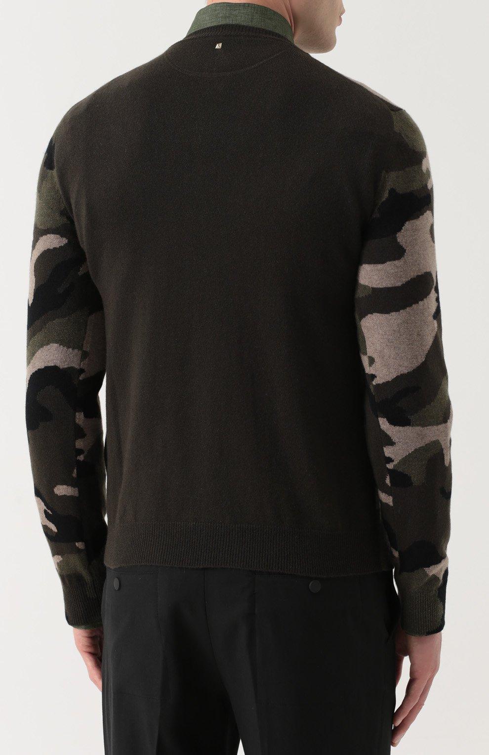 Кашемировый джемпер с камуфляжным принтом   Фото №4