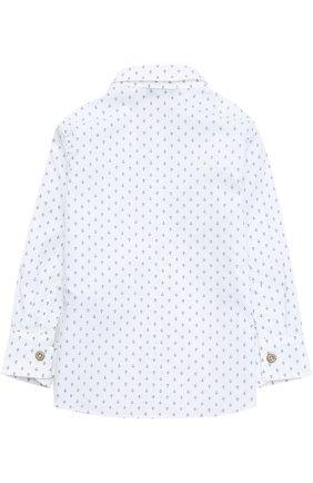 Хлопковая рубашка с принтом Hitch-hiker белого цвета | Фото №1
