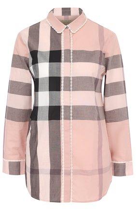 Блуза в клетку с укороченным рукавом