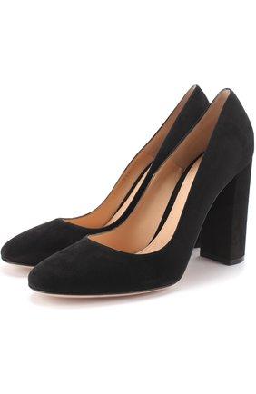 Замшевые туфли Linda на устойчивом каблуке | Фото №1