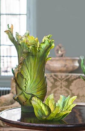 Мужская ваза для фруктов borneo DAUM зеленого цвета, арт. 05521   Фото 2