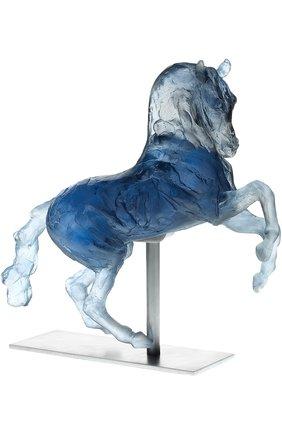 """Мужского скульптура """"лошадь александра македонского"""" DAUM синего цвета, арт. 03879   Фото 1"""