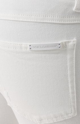 Джинсы-скинни с потертостями Dolce & Gabbana белые | Фото №5