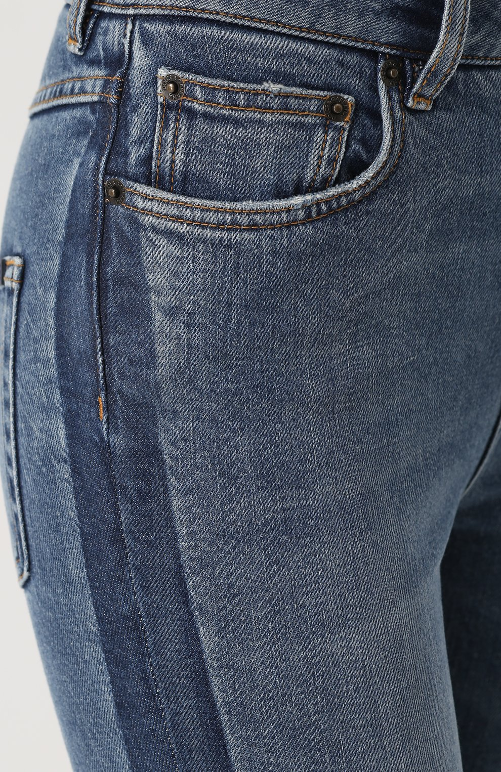 Джинсы-скинни с потертостями Dolce & Gabbana синие   Фото №5