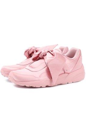 Атласные кроссовки с бантом Fenty X Puma by Rihanna | Фото №1