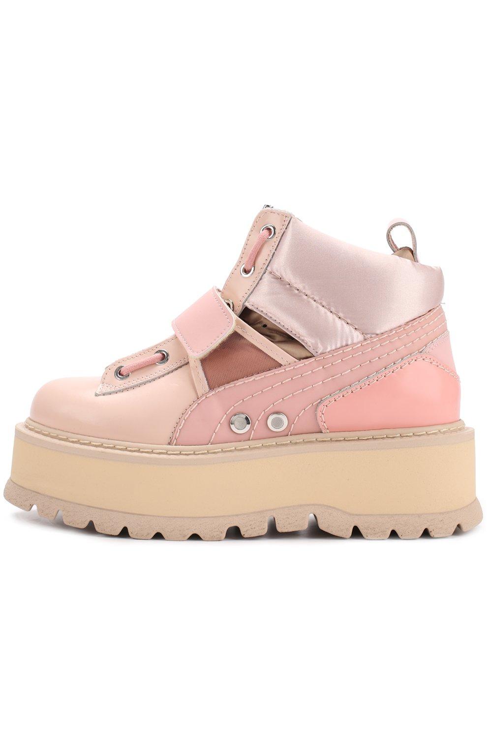 Женские розовые ботинки на платформе fenty x puma by rihanna FENTY ... 95fe705b5ff