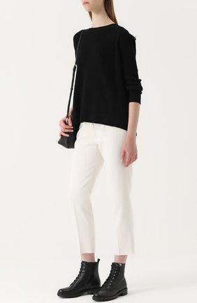 Женские кожаные ботинки на шнуровке GIANVITO ROSSI черного цвета, арт. G70695.20CU0.VIP | Фото 2