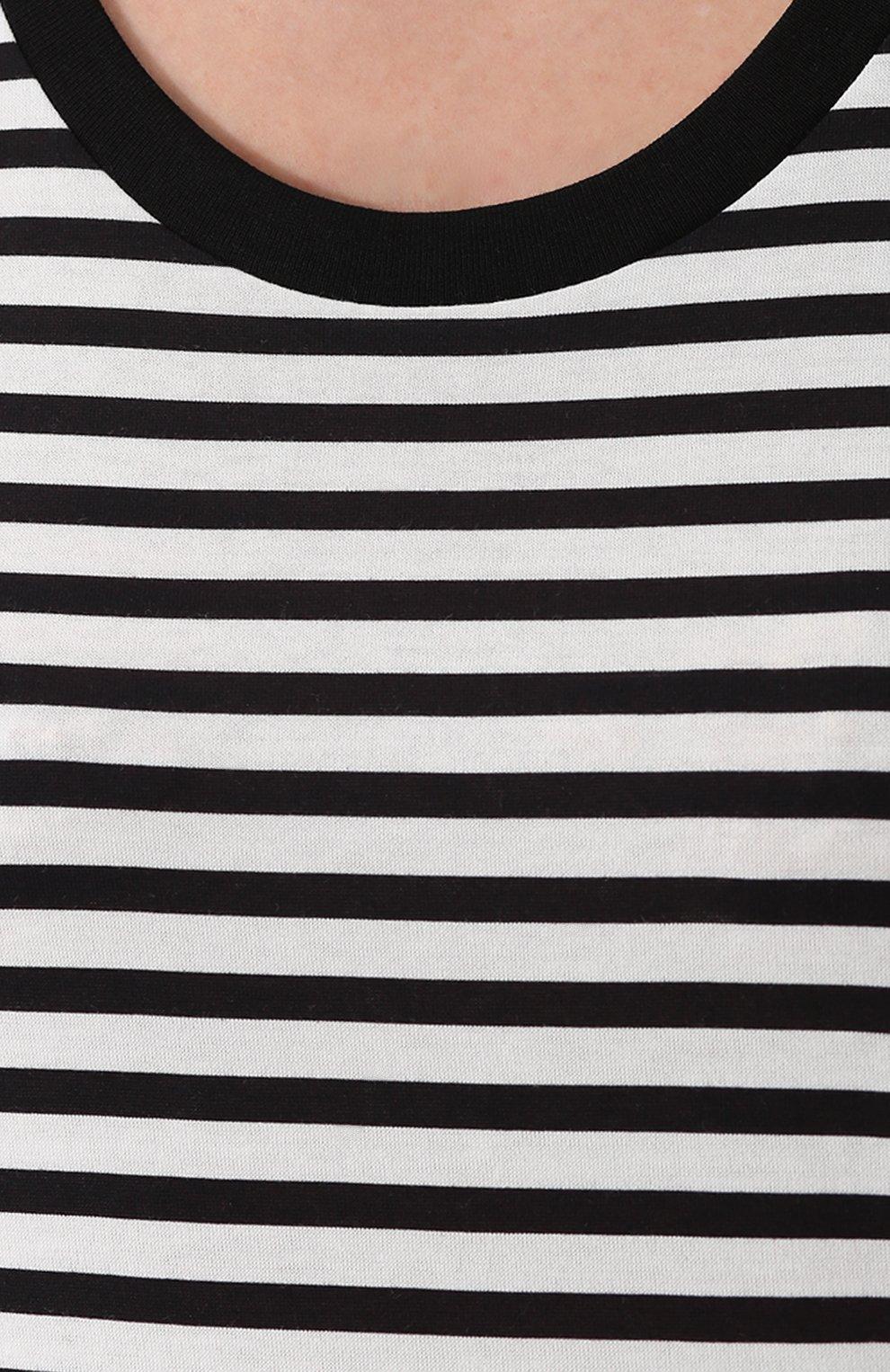 Топ прямого кроя в контрастную полоску Dolce & Gabbana черный | Фото №5