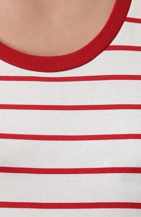 Топ прямого кроя в контрастную полоску Dolce & Gabbana красный | Фото №5