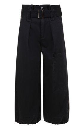 Укороченные брюки с завышенной талией и поясом