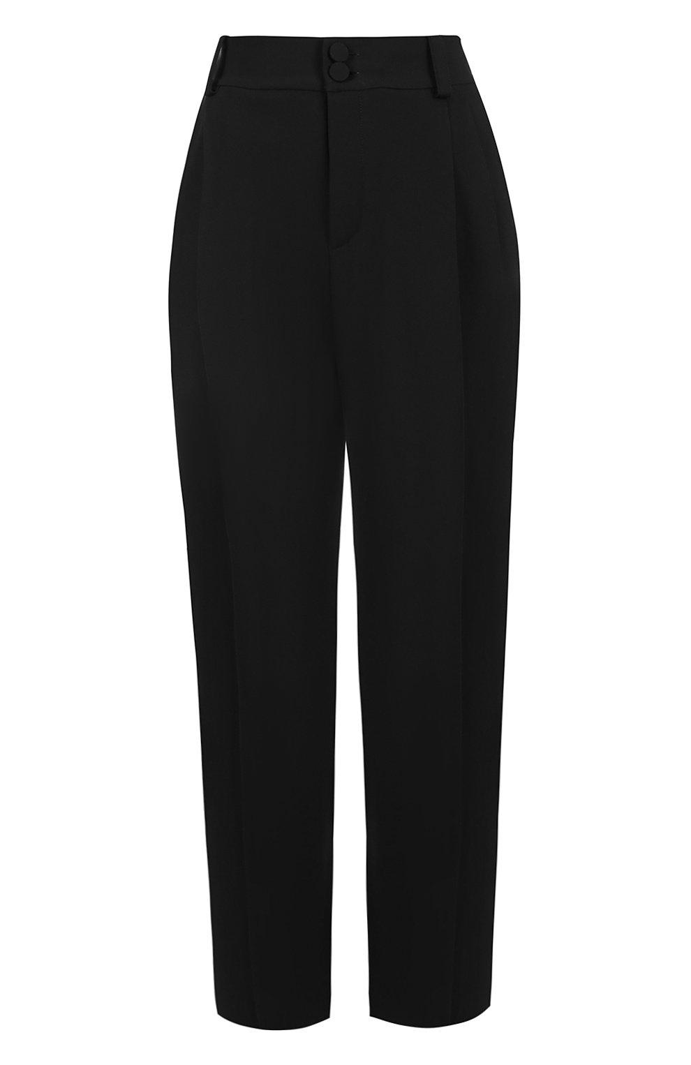 Укороченные брюки с завышенной талией | Фото №1