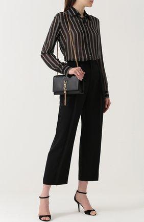 Укороченные брюки с завышенной талией | Фото №2