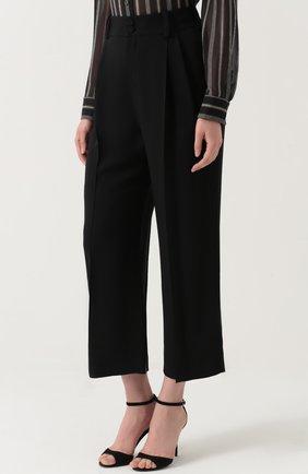 Укороченные брюки с завышенной талией | Фото №3