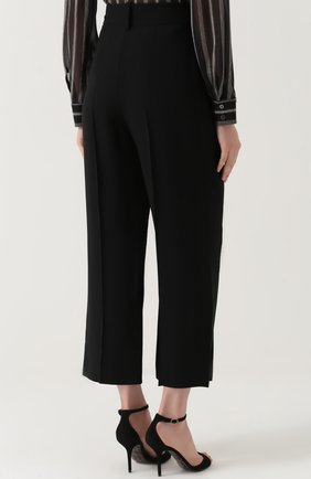 Укороченные брюки с завышенной талией | Фото №4