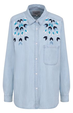 Женская джинсовая блуза прямого кроя с вышивкой Rails, цвет голубой, арт. BRETT/221-027 в ЦУМ   Фото №1