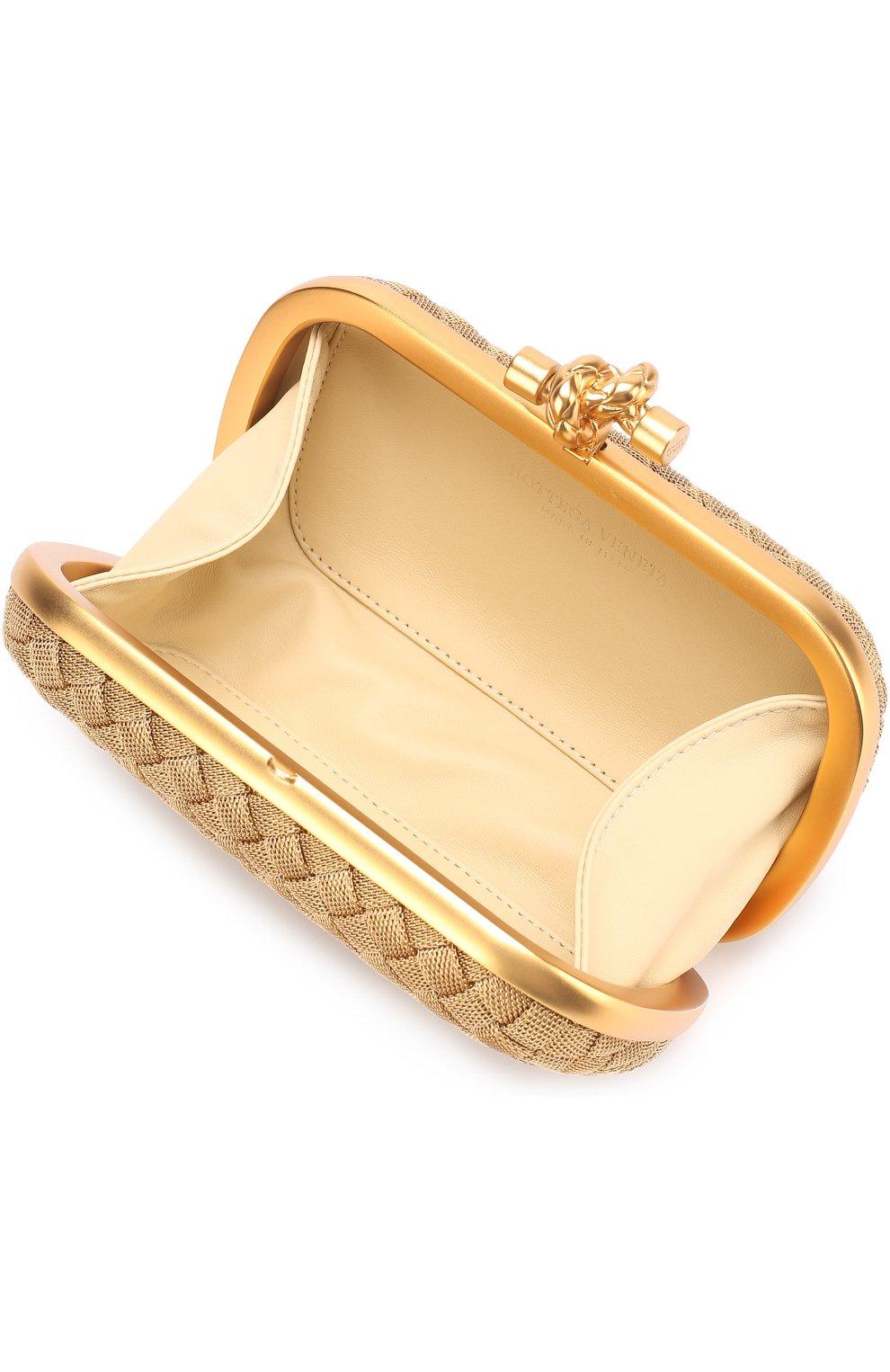 5ad3c556c4ef Клатч Knot из металла Bottega Veneta бронзового цвета | Фото №4