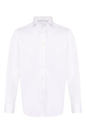 Мужская хлопковая сорочка с воротником акула ETON белого цвета, арт. 3000 73311 | Фото 1