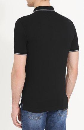 Хлопковое поло с короткими рукавами Dolce & Gabbana черное | Фото №4
