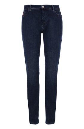 Мужские джинсы прямого кроя с контрастной прострочкой ZILLI темно-синего цвета, арт. 613N050002 | Фото 1