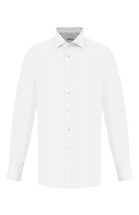 Мужская хлопковая сорочка с воротником акула ZILLI белого цвета, арт. 601N103001 | Фото 1