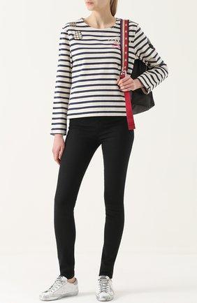 Женские однотонные джинсы-скинни J BRAND черного цвета, арт. 23110I524/F | Фото 2
