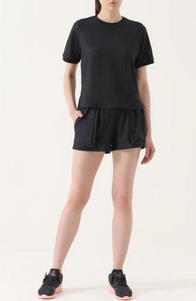 Мини-шорты с эластичным поясом Koral черного цвета | Фото №1