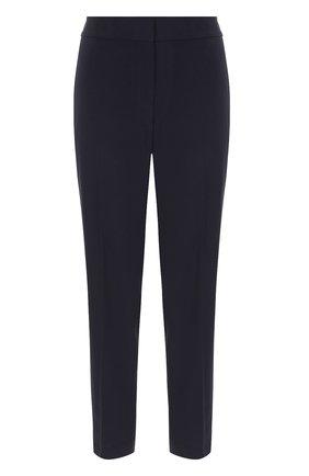 Женские укороченные брюки прямого кроя со стрелками ST. JOHN темно-синего цвета, арт. K84KW10 | Фото 1