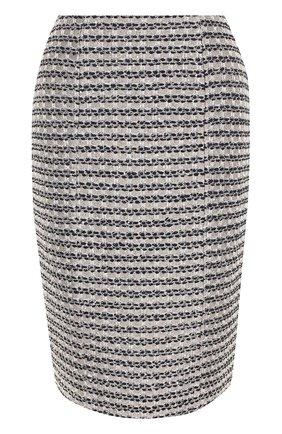 Твидовая юбка-карандаш с разрезом | Фото №1