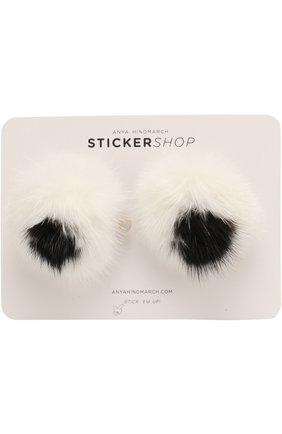 Стикеры Eyes Fur из меха норки | Фото №1